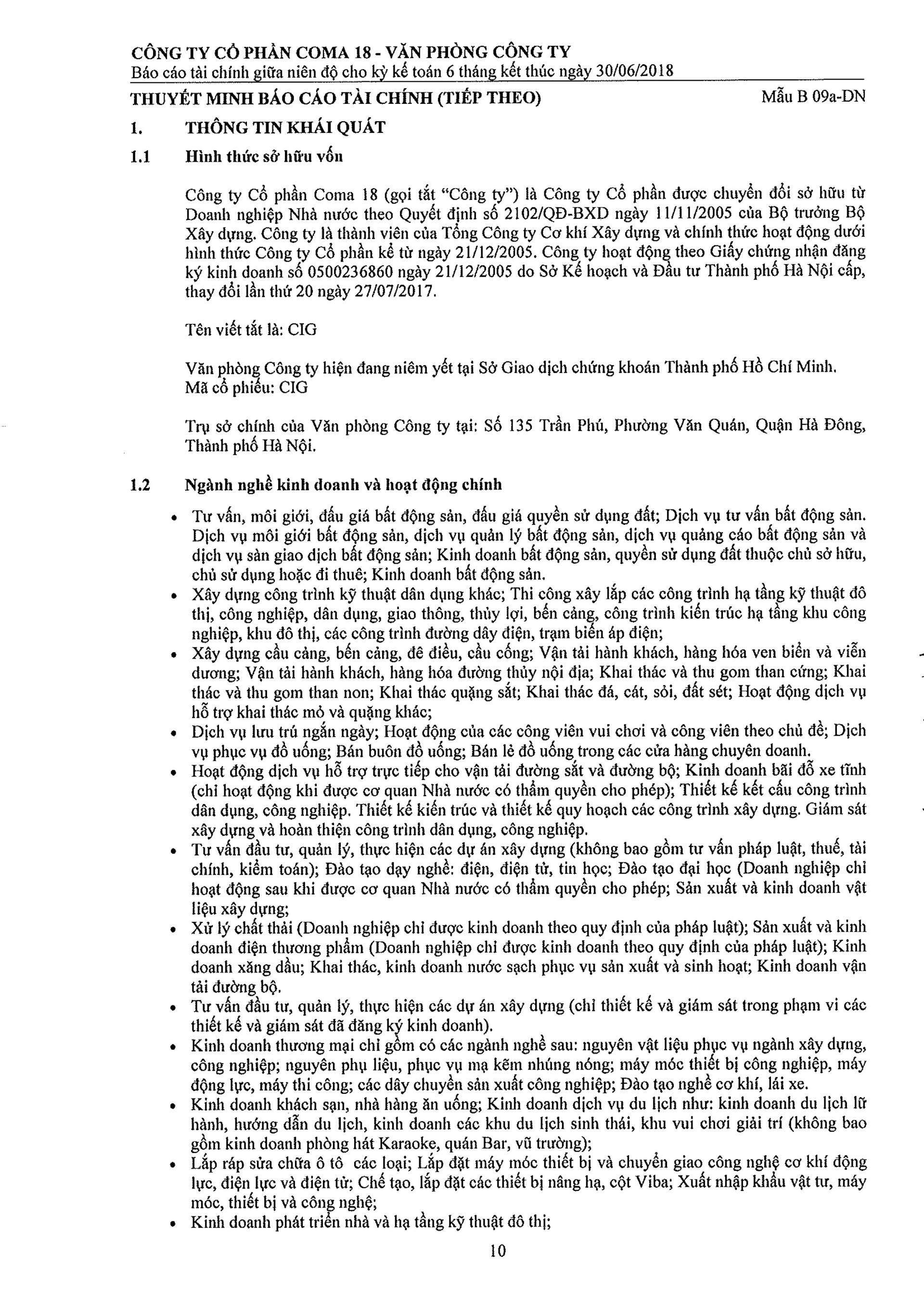 Báo cáo Tài chính COMA 2-11