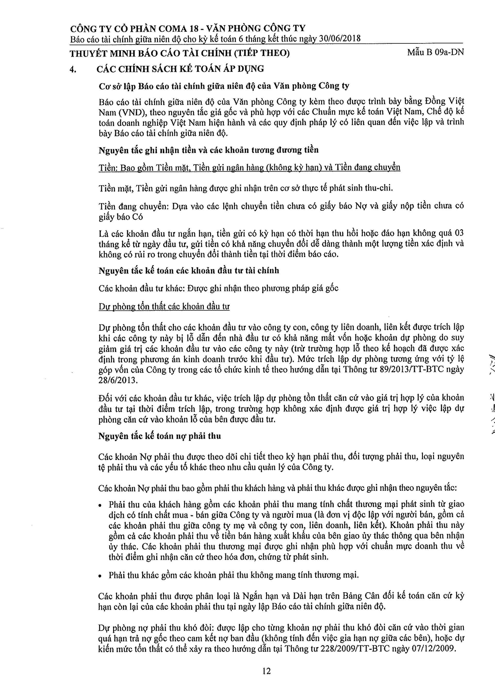 Báo cáo Tài chính COMA 2-13