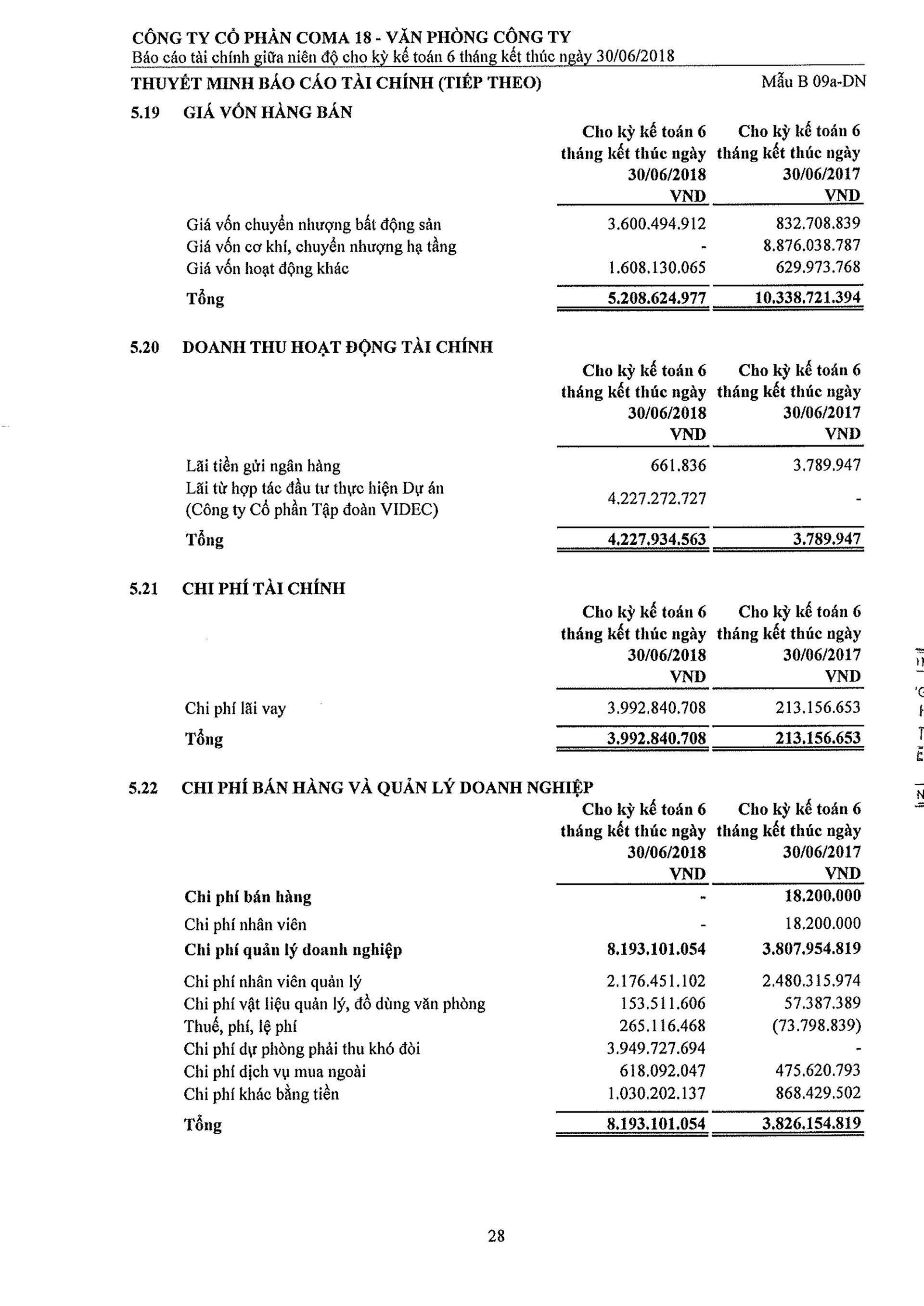 Báo cáo Tài chính COMA 2-29